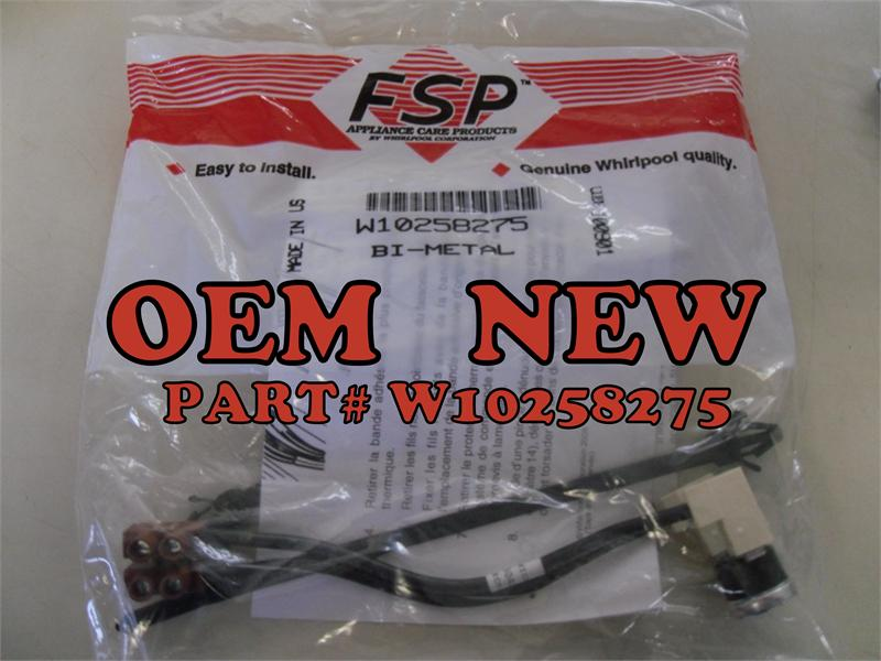 W on Dishwasher Thermal Fuse